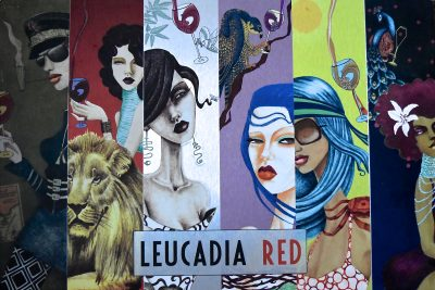 Leucadia Red Wine Label Collage