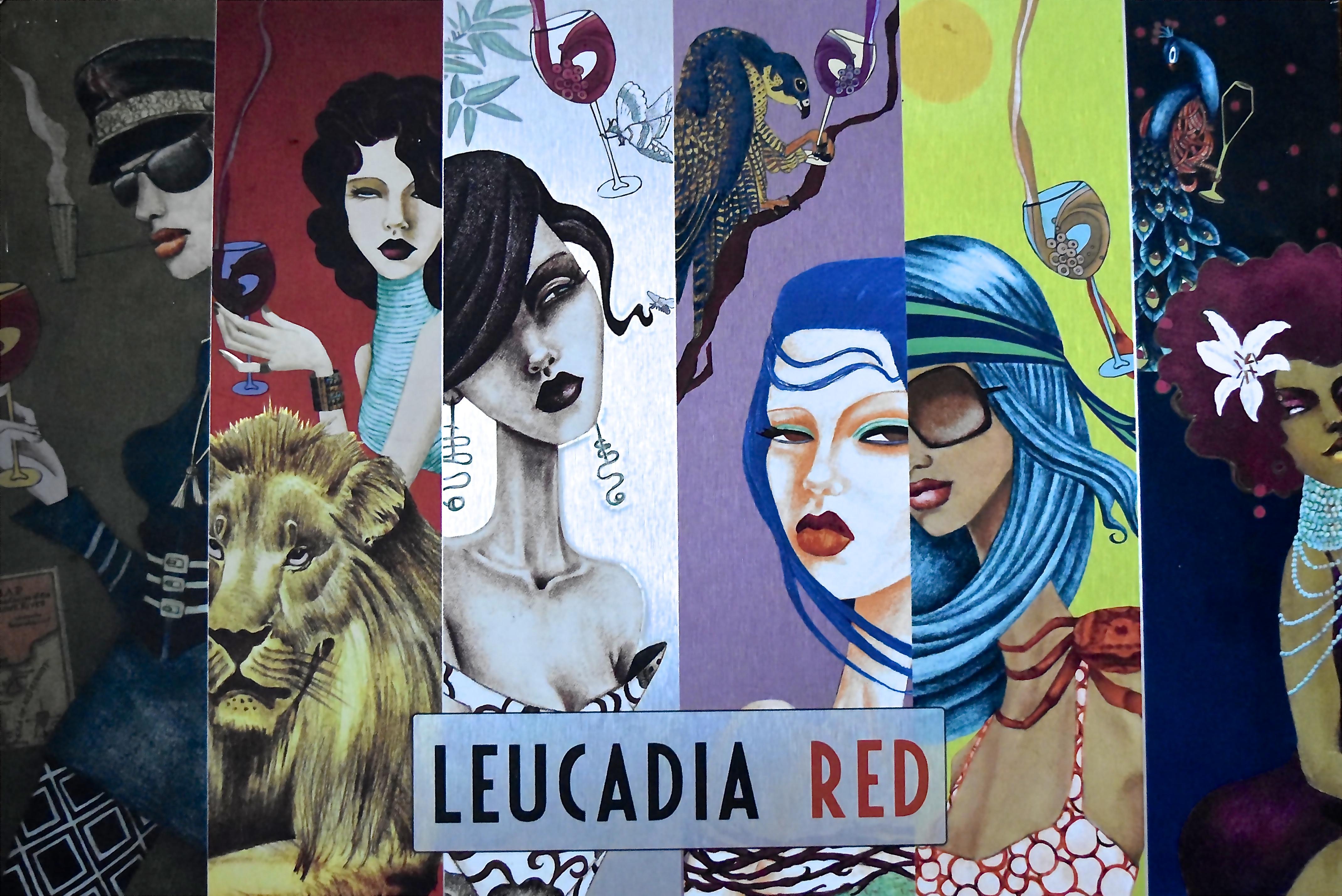 Leucadia Red Wine Label Collage