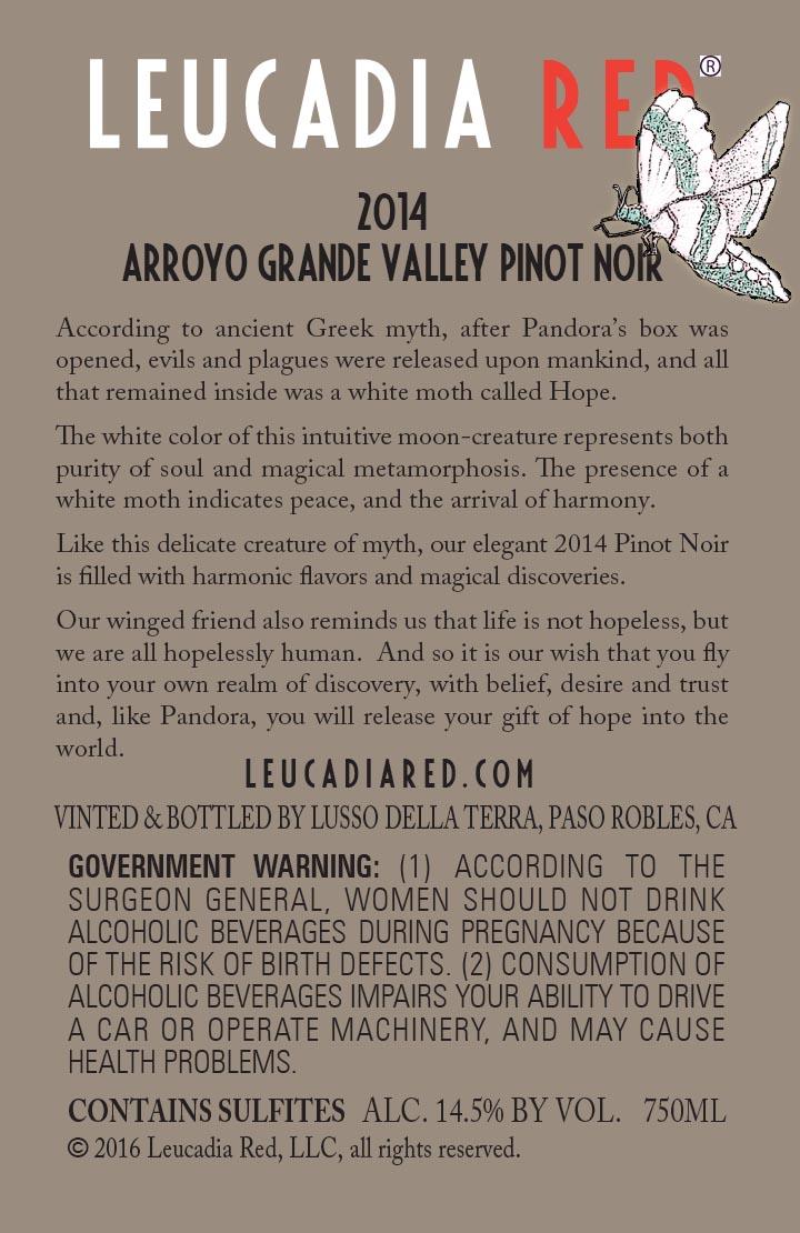 2014 Arroyo Grande Pinot Noir
