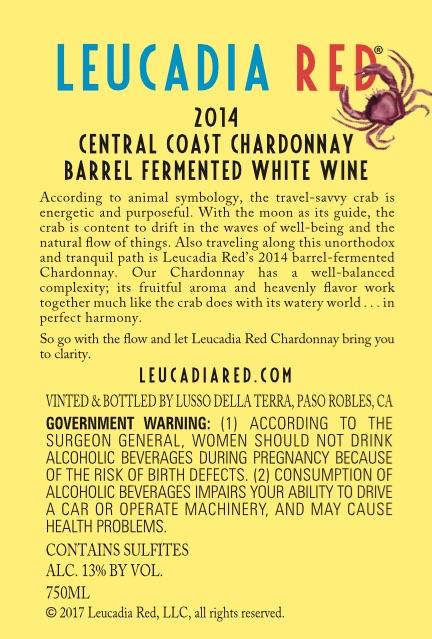 2014 Central Coast Chardonnay